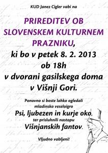 Plakat Prešernov dan 2013